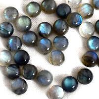 25 Pieces 4 MM Round Natural Calibrated Labradorite Cabochon Loose Gemstones