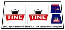 Replica Sticker for Lego® Classic Town 1029 - Milk Delivery Truck - Tine (1999)