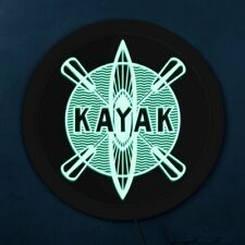 Kayaking Neon Sign Wall Sign Kayak Studio LED Open Sign For Business Displays