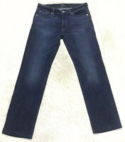 7 For All Mankind Luxe Performance Slimmy Jeans Womens Size 31 Dark Wash Stretch