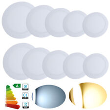 Round 3W-24W LED Recessed Ceiling Panel Light Ultra Slim Flat Downlight Kit UK