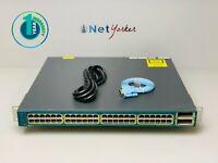 Cisco WS-C3560E-48PD-S • 48 Port PoE 3560E Gigabit Switch ■ SAME DAY SHIPPING ■