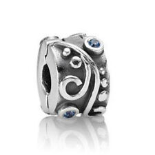 Silver Charms Bead Stopper fit European Bracelet hallmarked Clip Clasp 5 PSB344