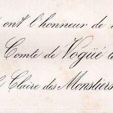 Melchior De Vogue 1866 Claire Des Monstiers-Merinville