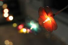 20 rainbow Flower purple Handmade Fairy String Lights Home Decor party garland