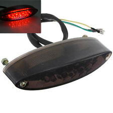 Motorcycle LED Tail Light Rear Brake License Plate Light ATV Dirt Bike Smoke