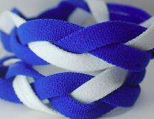 NEW! Blue White Braided Hair Band Head Under Sweaty Headband Armour Non Slip