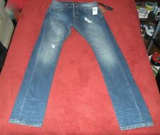 $118.00 Superdry  Skinny Distressed Men's Retro BLUE Jeans 31 x 34