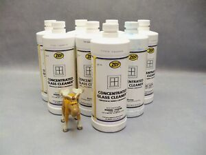 Zep concentrated glass cleaner commercial Lot of 8 bottles (20oz each)