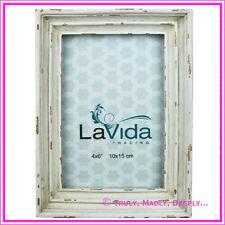 "Lavida Rustic White Photo Frame - ""4x6"""