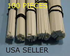 """STYRENE RECTANGLE/FLAT BAR STRIPS - 100 PIECE ASSORTMENT - 5 SIZES LOT with 1/8"""""""