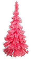 3Ft Pink Hanging Wall Valentine's Tree Classic Pink Tinsel Tree Lays Flat - 36''