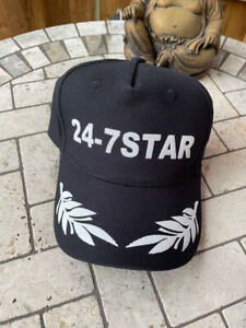 DSquared² BASEBALL CAP 24 7 STAR HAT BLACK & WHITE EMBROIDERE NEW UK TAGS