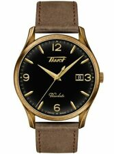 New Tissot Heritage Visodate Brown Leather Strap Mens Watch T1184103605700