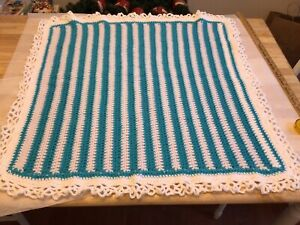 Crochet Blankets , Various Colors/styles, Sizes 32x35 Approximately New