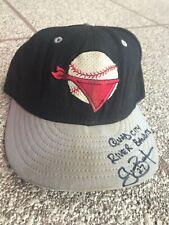 Grant Balfour Quad City River Bandits Game Used Signed MiLB Hat Cap MLB Twins A