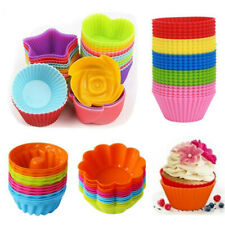 12Pcs Silicone Cake Mold Muffin Chocolate Cupcake Bakeware Baking Cup Mould Tool