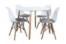 Conjunto de Mesa Wad 100 + 4 sillas Tower + 4 cojines