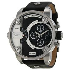 OROLOGIO DIESEL DZ7256 LITTLE DADDY POLSO UOMO CRONOGRAFO DUAL TIME PELLE