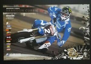 Vintage Yamaha Supermoto Poster Brandon Currie 2008 Graves Motorsports Motocross
