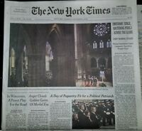 The New York Times December 6, 2018. 12/6/18 George H.W. Bush Funeral 1924-2018