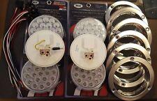 """(4) 19 LED Trux Dual Revolution & (2) Standard 4"""" Round Clear S/T/T B/U Flange"""