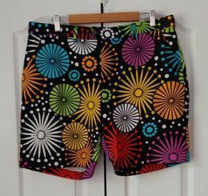 "LOUDMOUTH Men's Golf Shorts Geometric Print, SIZE 37, 9"" Inseam, Stretch Cotton"