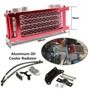 Aluminum Engine Oil Cooler Radiator For 50 70 90 110CC Dirt Pit Bike Motorcycle