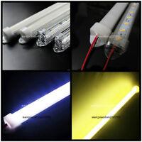 10pcs 50cm 7020 36SMD LED strip Aluminum case milk clear white cover end cap 12V