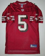 SAN FRANCISCO 49ERS #5 JEFF GARCIA FOOTBALL JERSEY SHIRT NFL REEBOK TOP MEN'S M