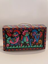 Vintage Hand Made Mexican Folk Art Style Decorative Storage Box Bird Design(CVB)