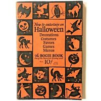Dennisons Bogie Book Halloween 1926 Vintage How to Entertain Costumes Party Idea