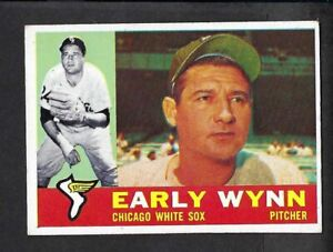 1960 Topps Early Wynn # 1 Creases White Sox