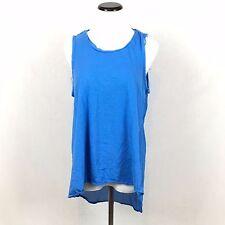 3.1 PHILIP LIM TARGET Womens sleeveless sheer back blue sleeveless tank M hi low