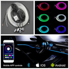 12V RGB Car 5in1 EL Neon 5050LED Strip Lights Decoration Bluetooth Phone Control
