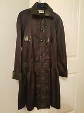 Ilie Wacs Vintage 70s Black Swing Rain Coat Women's Size 4 USA