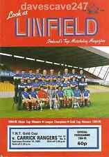 Linfield v Carrick - TNT Gold Cup - 1985/86