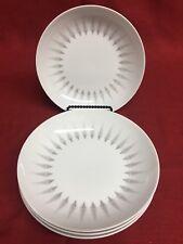 """4 Sango Crest Fine China Art Deco MCM Style 7 5/8"""" Side Salad Soup Bowls"""