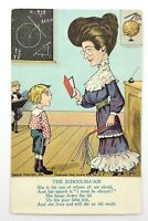 Illustration Caricature Teacher Student Postcard Divided Back Posted 1905 N066