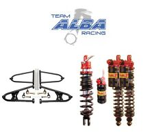 Raptor 700 Chromoly Alba A Arms +2+1 Elka Legacy Stage 3 Front Rear Shocks