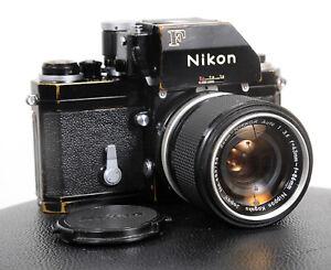 Lovely BLACK NIKON F PHOTOMIC FTN 35mm Film Camera + 43-86mm zoom...working!