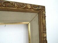 VINTAGE HAND CARVED GILDED WOOD FRAME FOR PAINTING  18 X 14 INCH  (e-1)