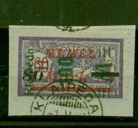 Memel, auf französischer Marke Nr. 164 Briefstück