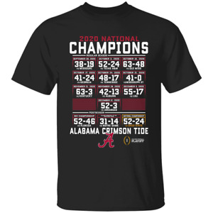 Alabama Crimson Tide College Football Playoff 2021 National Champions T-Shirt...