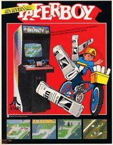 PAPERBOY Classic Vintage Arcade Nintendo Atari Sega Poster 24 x 36 inch 1