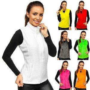 Fleeceweste Weste Jacke Sweatshirt Übergangs Classic Damen Mix BOLF Unifarben