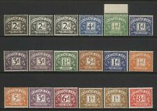 Great Britain Collection 18 Pre Decimal Postage Dues Mounted Mint
