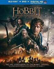 The Hobbit: The Battle of the Five Armies (Blu-ray/DVD, 2015, 2-Disc Set,...