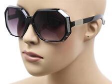 NEW WOMEN'S FASHION OVERSIZE BIG SEXY RETRO ROUND BLACK SUNGLASSES KS-1290