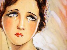 ILLUSTRATION  PROJET POUR DAMISEL.LA. AQUARELLE. P. CLAPERA. ESPAGNE. CIRCA 1920